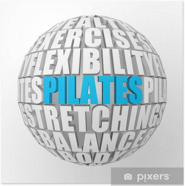 Selbstklebendes Poster Pilates - Gesundheit & Medizin