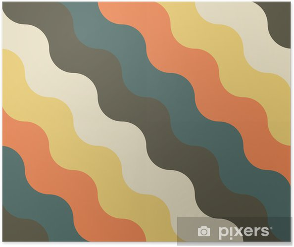 abstract retro geometric pattern Self-Adhesive Poster - Backgrounds
