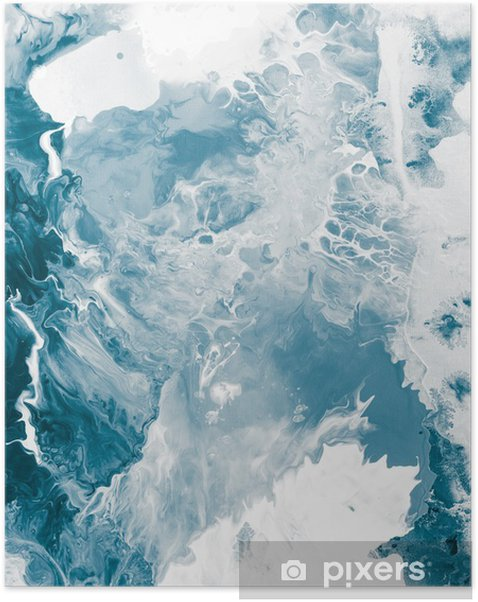 Blue marble texture. Self-Adhesive Poster -