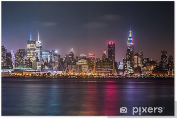 Manhattan Panorama during the Pride Weekend Self-Adhesive Poster -