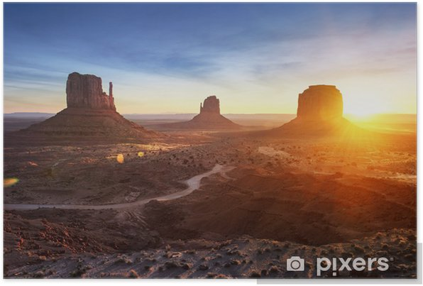 Monument Valley at sunrise Self-Adhesive Poster - Backgrounds