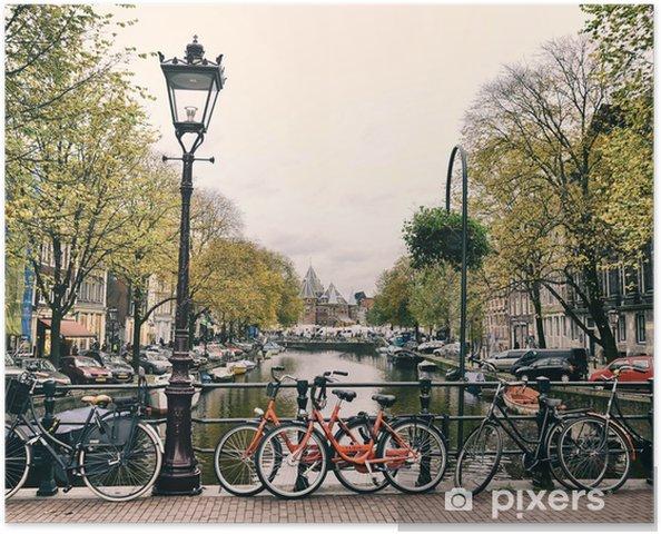 Amsterdam Selvklæbende plakat -