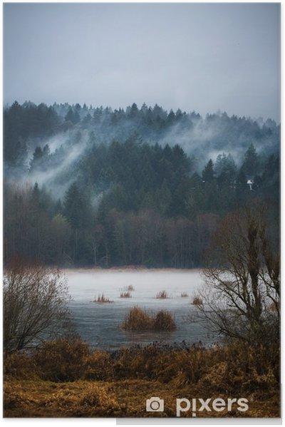 Efterår Fogs / Mists of Vancouver Island Selvklæbende plakat - Landskaber