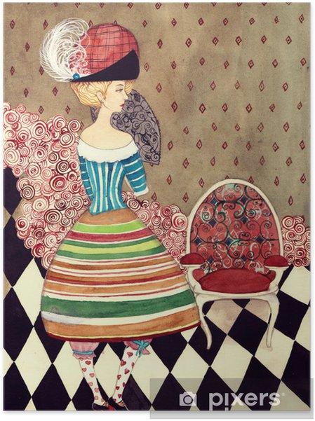 Fairy dame Selvklæbende plakat -