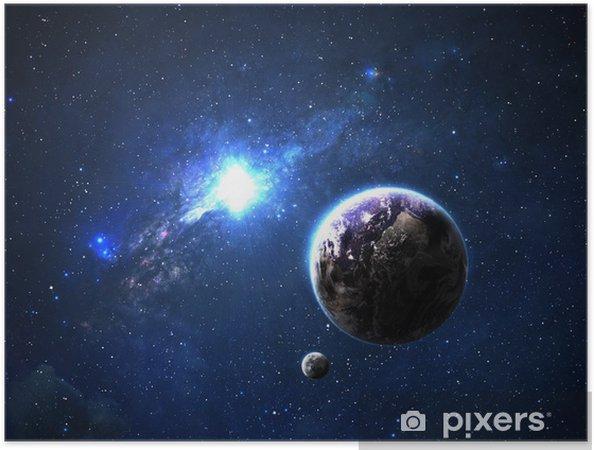 Jorden i rummet. Elementer af dette billede indrettet af NASA Selvklæbende plakat -