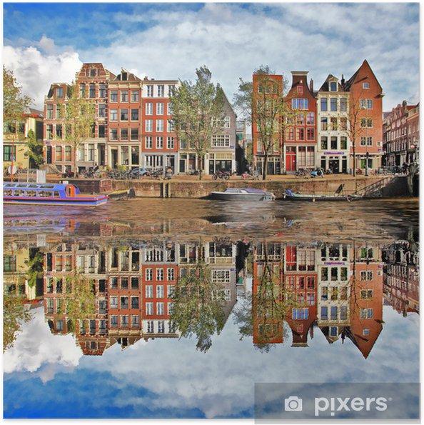 Smukke Amsterdam, Holland Selvklæbende plakat -