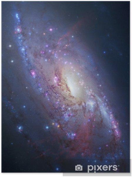 Spiral galakse i dyb rum. Elementer af billede indrettet af NASA Selvklæbende plakat -