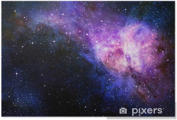 Stjerneklare dyb ydre rum nebual og galakse Selvklæbende plakat -