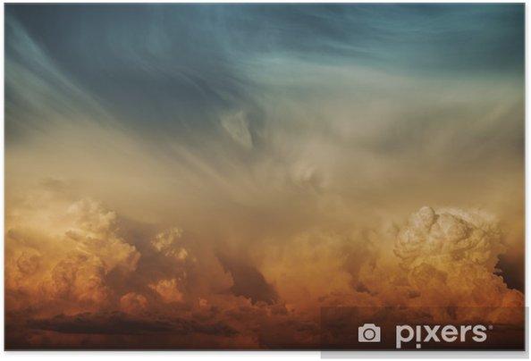 Stormy Cloud Nature Backdrop Selvklæbende plakat -