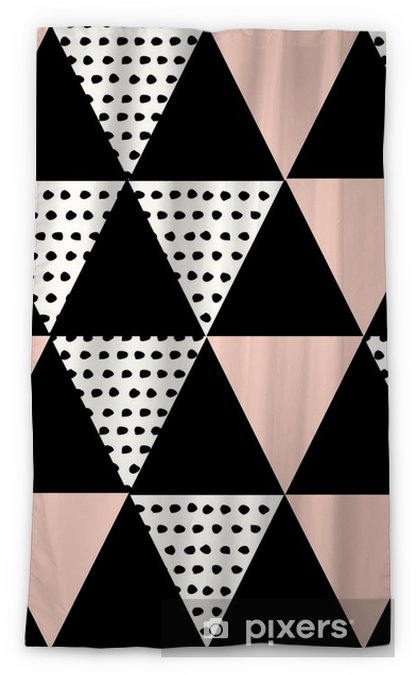Abstract Geometric Pattern Sheer Window Curtain - Graphic Resources