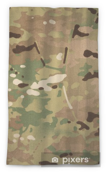 Armed Force Multicam Camouflage Fabric Texture Background Sheer Window Curtain