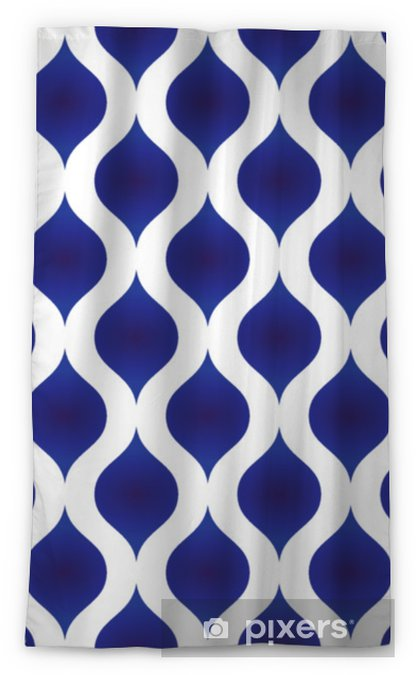 ceramic pattern modern shape Sheer Window Curtain - Graphic Resources