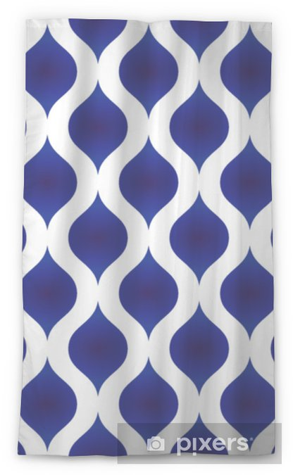 ceramic pattern modern shape Sheer Window Curtain - Graphic Resources