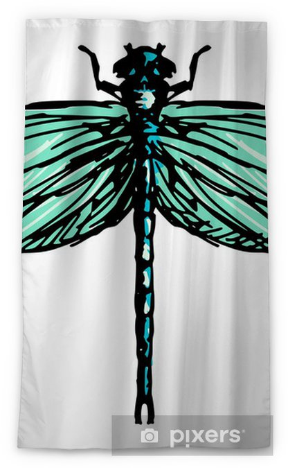 Dragonfly Sheer Window Curtain Pixers