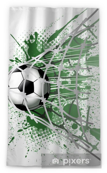 goal illustrations Sheer Window Curtain - Team Sports