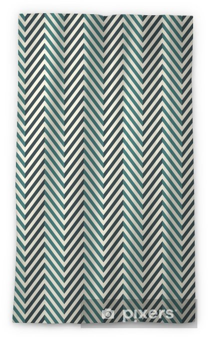 Herringbone abstract background. Blue colors seamless pattern with chevron diagonal lines. Sheer Window Curtain - Graphic Resources