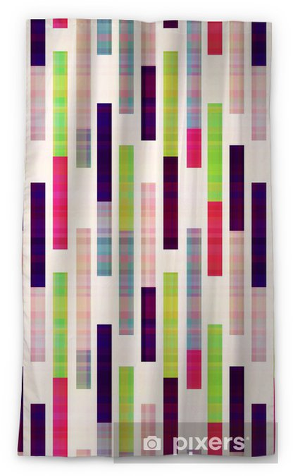 seamless abstract geometric striped pattern Sheer Window Curtain - Themes