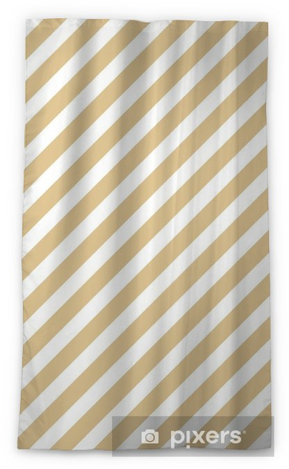 Stripe beige seamless pattern Sheer Window Curtain - Graphic Resources