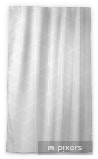 Vector modern abstract geometry grid pattern. gray seamless geometric background . subtle pillow and bed sheet design. creative art deco. hipster fashion print Sheer Window Curtain - Graphic Resources