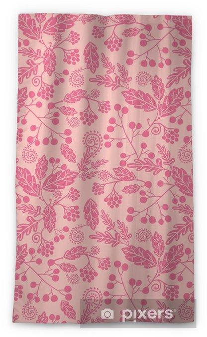 Vector pink silhouette flowers elegant seamless pattern Sheer Window Curtain - Plants and Flowers