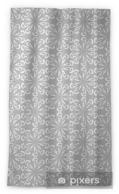 vector seamless pattern, grey color, abstract background Sheer Window Curtain - Graphic Resources