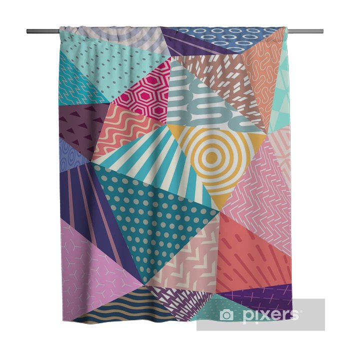 Abstract 3D colorful geometric elements Shower Curtain - Graphic Resources