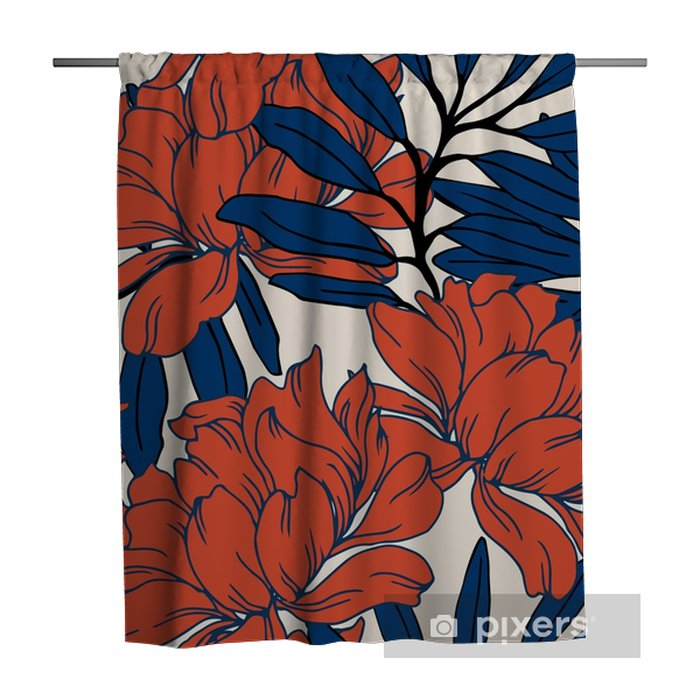 Abstract elegance pattern with floral background. Shower Curtain - Plants and Flowers