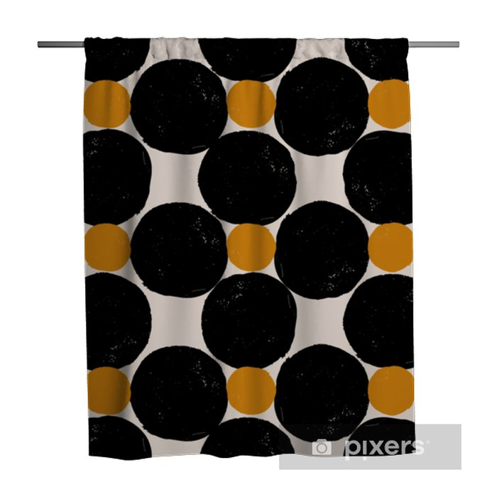 Abstract Geometric Pattern Shower Curtain - Graphic Resources