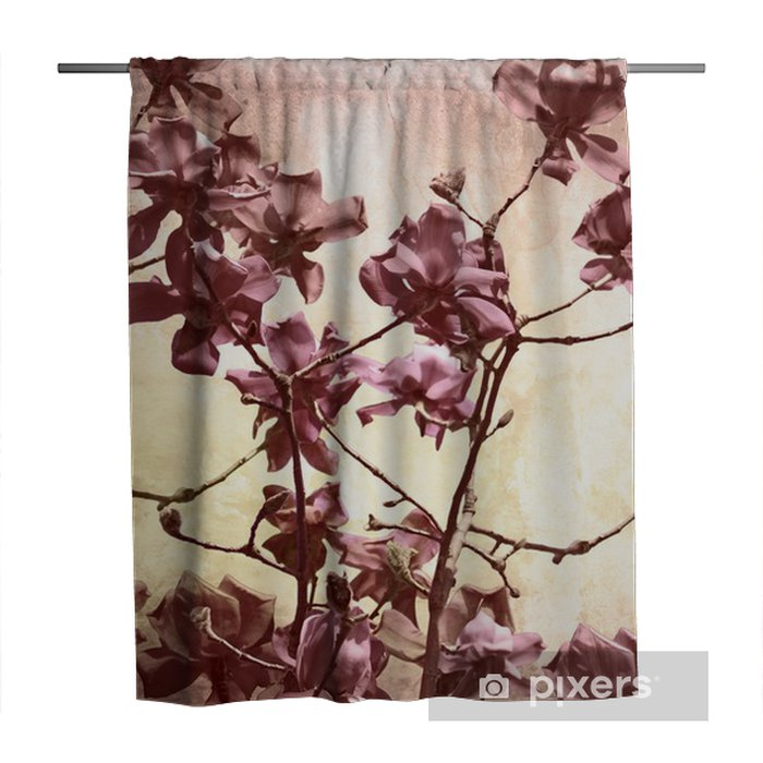 Artistic background with magnolia Shower Curtain - Themes