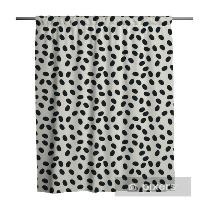 black and white dots vector seamless repeapt background Shower Curtain - Graphic Resources