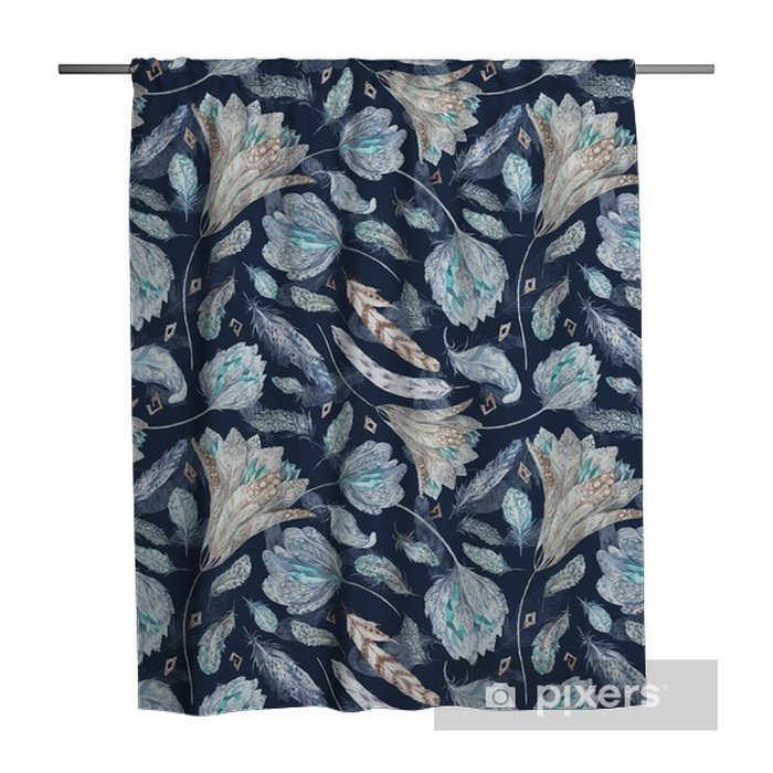 Boho Chic Indigo Pattern Shower Curtain - Graphic Resources