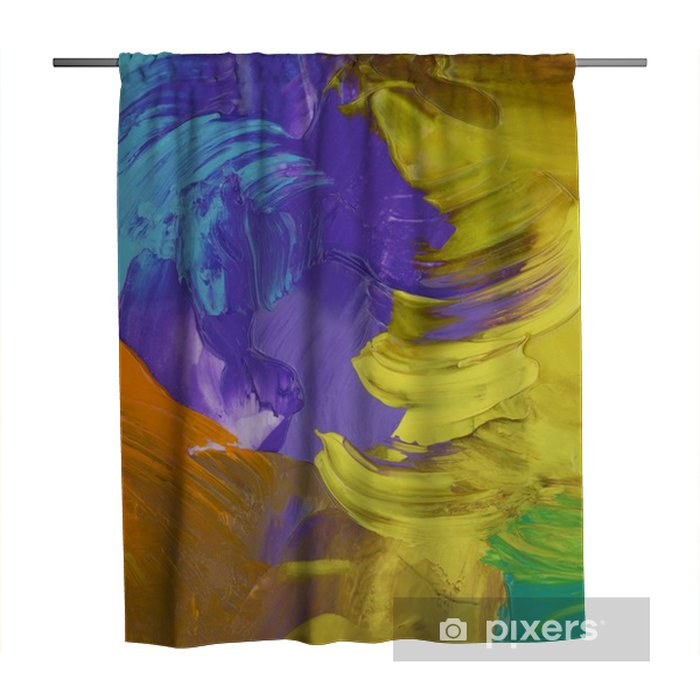 complementary color combination violet ultra Shower Curtain - Hobbies and Leisure