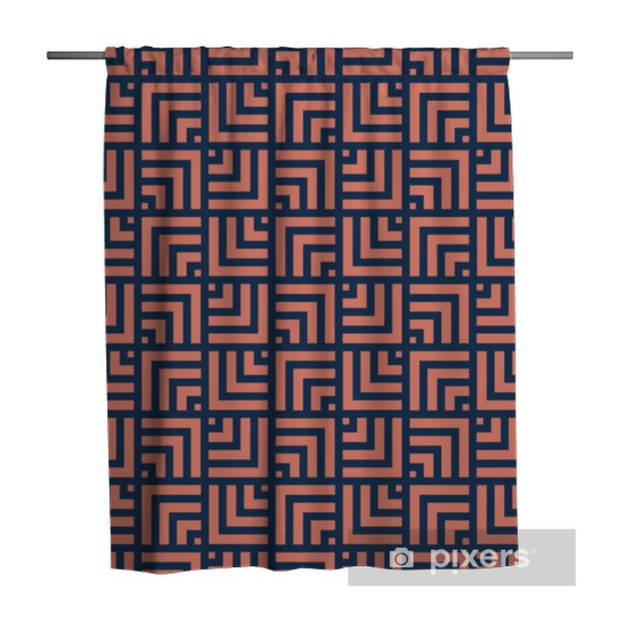 Geometric Lines Seamless Art Deco Pattern. Stylish antique background. Shower Curtain - Graphic Resources