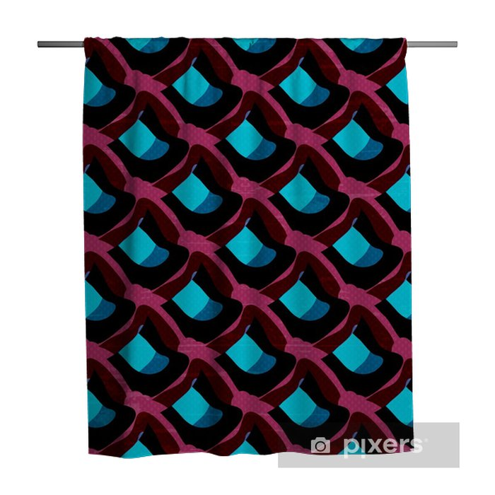 Graffiti on a black background Psychedelic seamless geometric pattern Shower Curtain - Graphic Resources