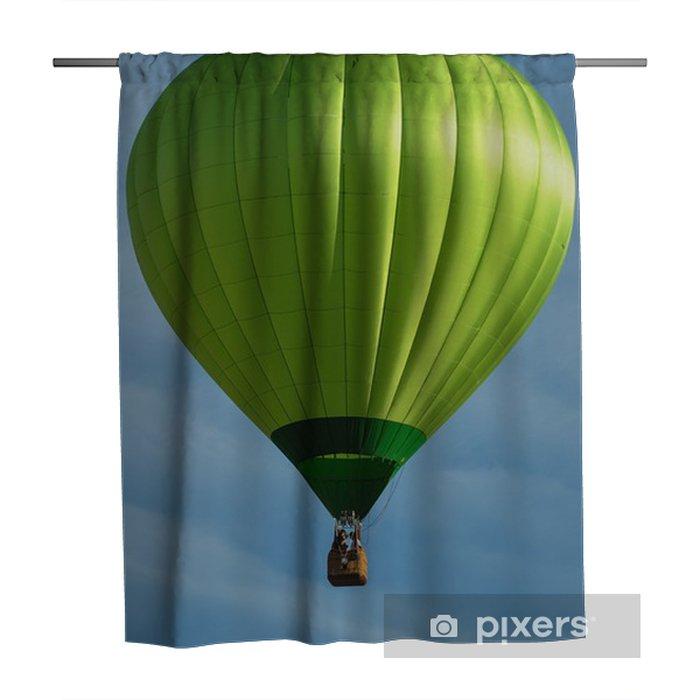 Green Hot Air Balloon Shower Curtain