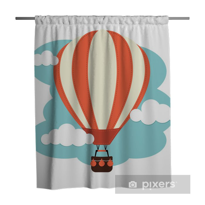 Hot Air Balloon And Clouds Shower