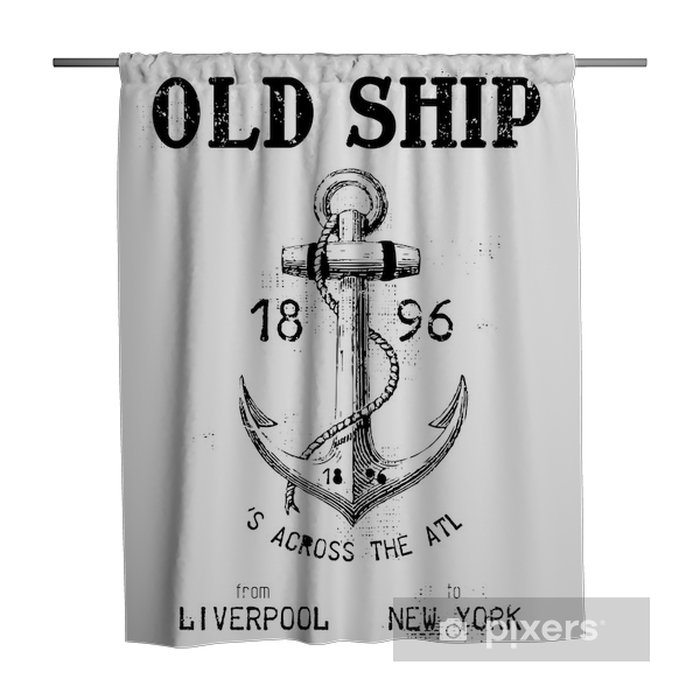 Old ship Shower Curtain - Wall decals