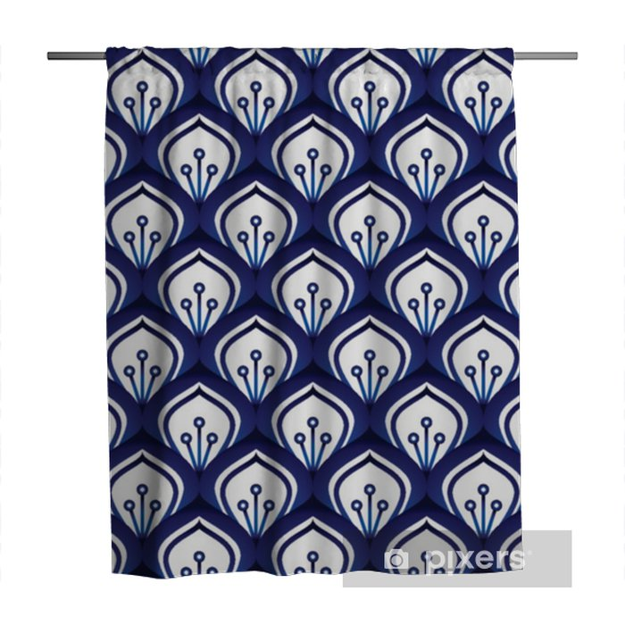 Porcelain pattern seamless Shower Curtain - Graphic Resources