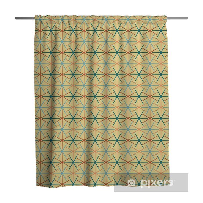 Seamless background abstract pattern with repeating star graphic ornament on the light background. Vector eps illustration Shower Curtain - Graphic Resources