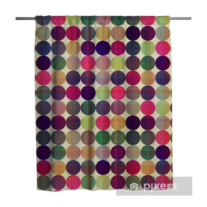 seamless circles background texture Shower Curtain - Themes