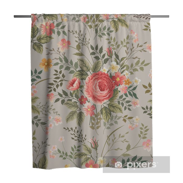seamless floral pattern with roses Shower Curtain - Flowers