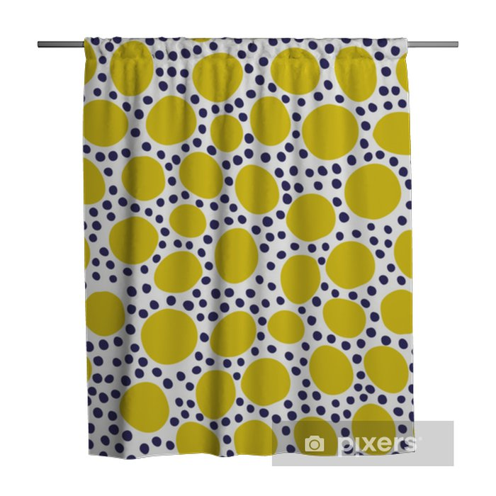 Seamless pattern with modern floral and abstract elements in fresh pastel colors. Shower Curtain - Hobbies and Leisure