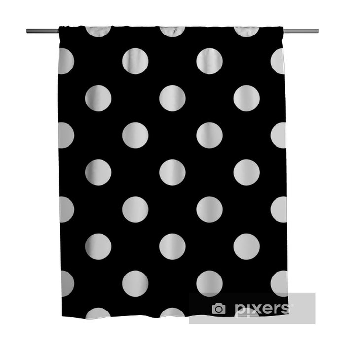 Seamless polka dot black and white Shower Curtain - Graphic Resources