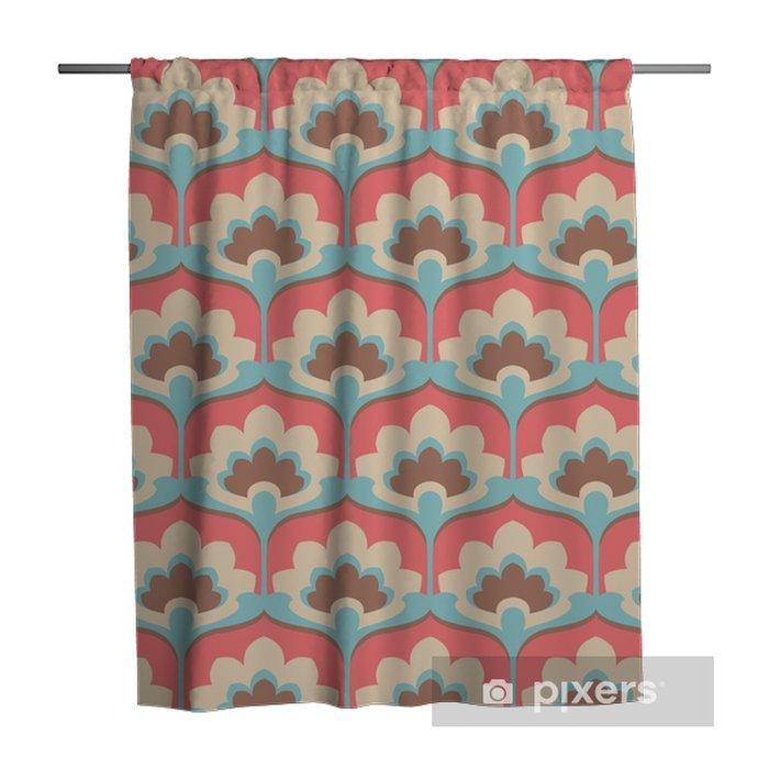 seamless vintage flower pattern Shower Curtain - Graphic Resources