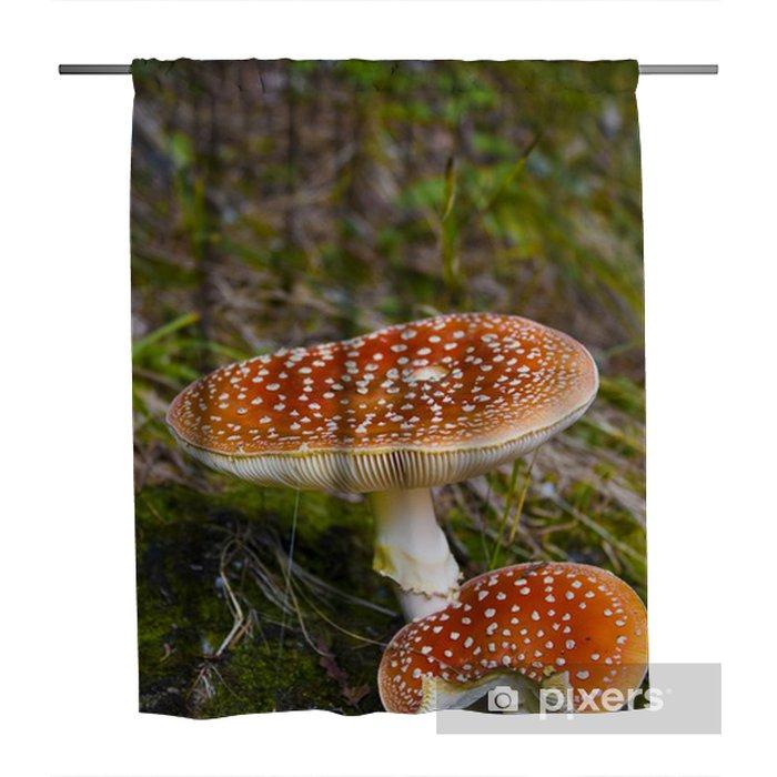 snake hat mushroom shower curtain