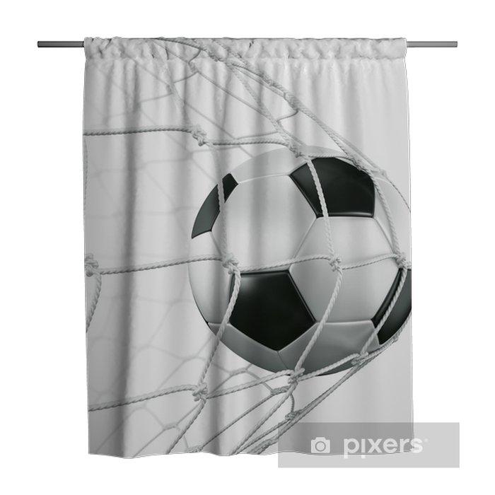 Soccerball in net Shower Curtain -