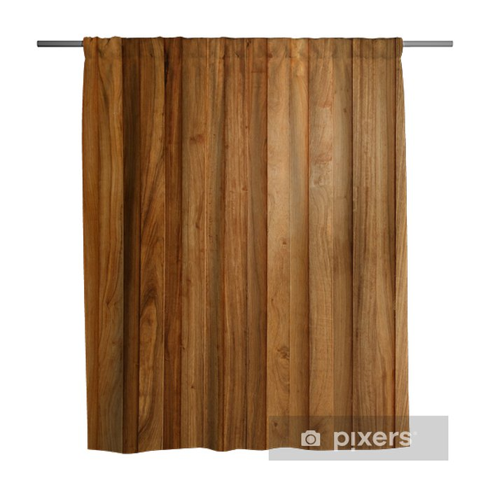 Teak Wood Plank Texture With Natural Patterns Shower Curtain