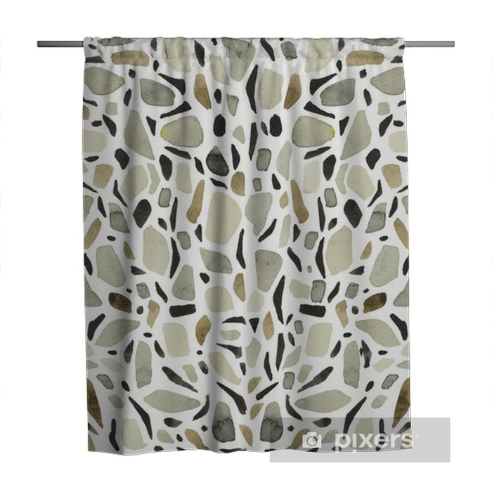 Terrazzo Big. Background - white Shower Curtain - Buildings and Architecture