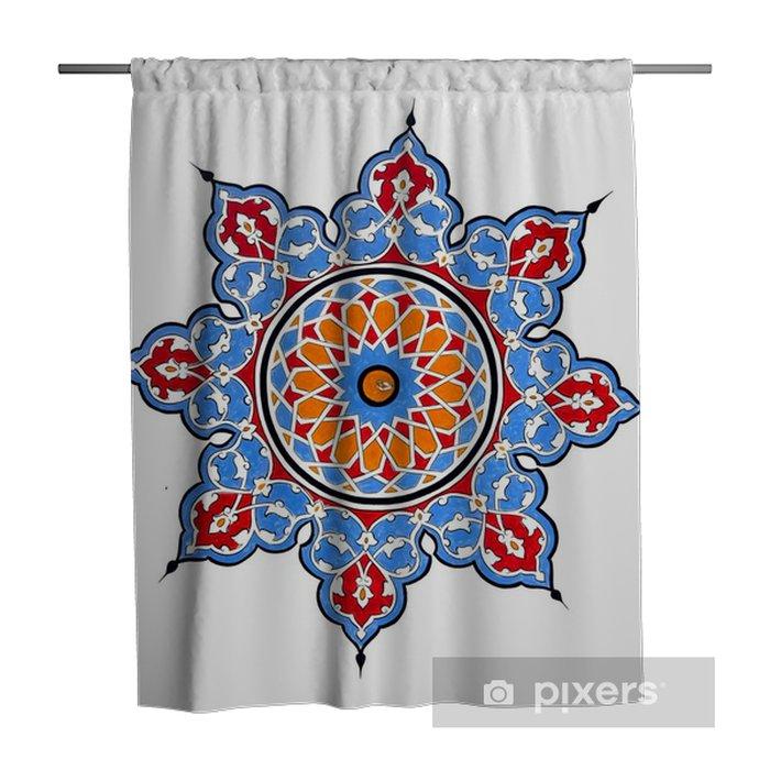 traditional ottoman turkey turkish painting pattern shower curtain