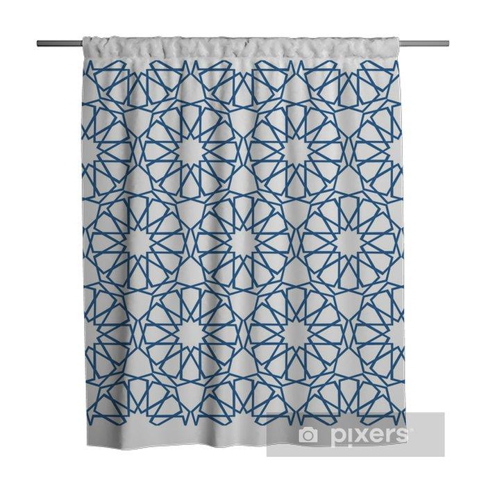 Traditional Turkish Geometric Design Shower Curtain